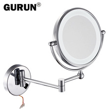 GURUN led makeup mirror with led light vanity cosmetic magnifying wall mirror bathroom magnification shaving make up mirrors