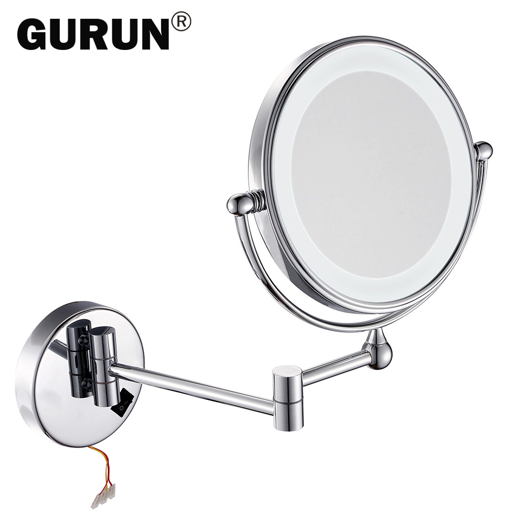Vanity Light Wall Mirror : Aliexpress.com : Buy GURUN led makeup mirror with led light vanity cosmetic magnifying wall ...