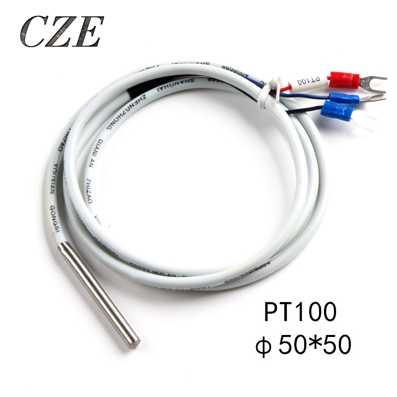 Free Shipping PT100 Thermocouple Thermometer 5*50mm Temperature Control Sensors Stainless Steel Probe reccagni angelo pl 8610 1