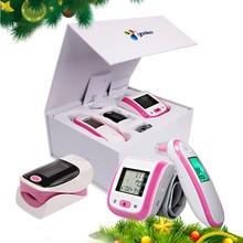 Loodom OLED Pulse Oximeters Baby Thermometer Wrist Blood Pressure Monitor Thermometr Oximetro De Dedo Blood pressure gift box