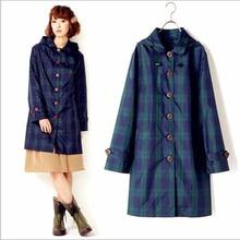 hot deal buy winstbrok plaid jacket raincoats 2017 impermeable japanese rain coat rainwear raincoat women female waterproof plaid rain jacket