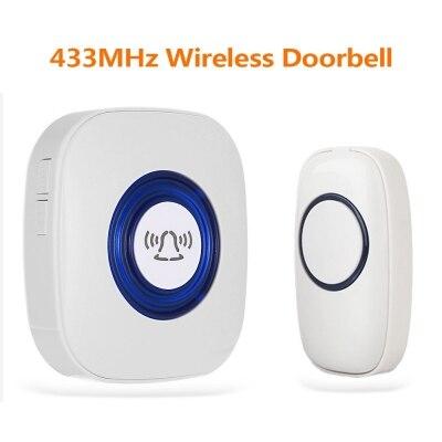 433 мГц Беспроводной дверной звонок/Indoor перезвон Поддержка работать с WI-FI дверной Звонок ...
