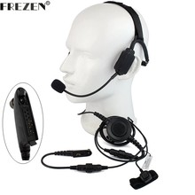 Walkie talkie Military Bone Conduction Tactical Headset boom mic For Motorola Two Way Radio HT750 HT1250 GP328 GP329 340 380