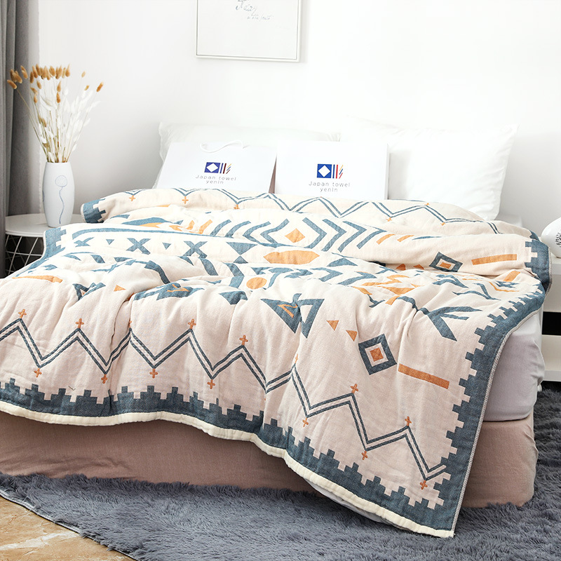 Kids Bedding Blanket 150*200 CM Muslin Cotton 4 Layers Adult Air Conditioning Cover Blanket Children Thick Sleeping Bedding