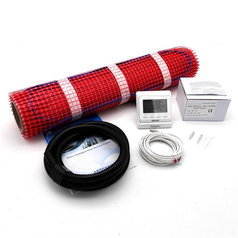 Ev ve Bahçe'ten Elektrikli Isıtma Pedleri'de 230V 0.5M Geniş Elektrikli Yerden Isıtma Sistemi Kiremit Isıtma Mat Kitleri 0.5 1.5 2.5 3.5 4.5 Kare metre + M6 Termostat'da  Grup 1