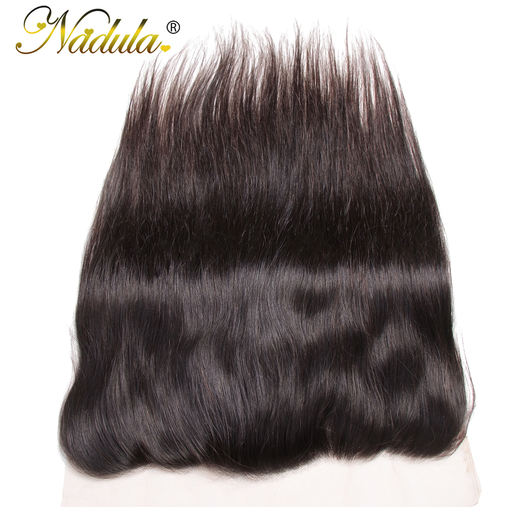 Nadula Hair 13x4  Straight Hair Lace Frontals 10-20inch Free Part Closure 130% Density  Hair  3