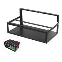 mining frame case Steel Coin Open Air Miner Mining Frame Rig Case Up to 8 GPU BTC LTC ETH Ethereum for mining machine