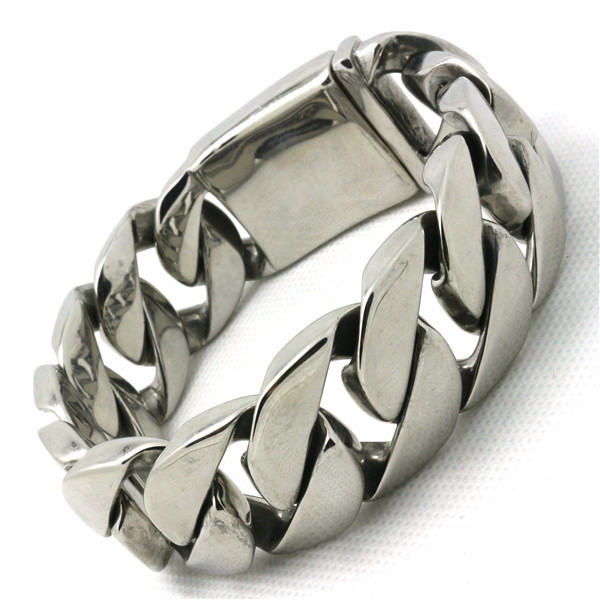 25mm 171g Polishing Cool Biker Style Bracelet 316L Stainless Steel Mens Top Quality Bracelet