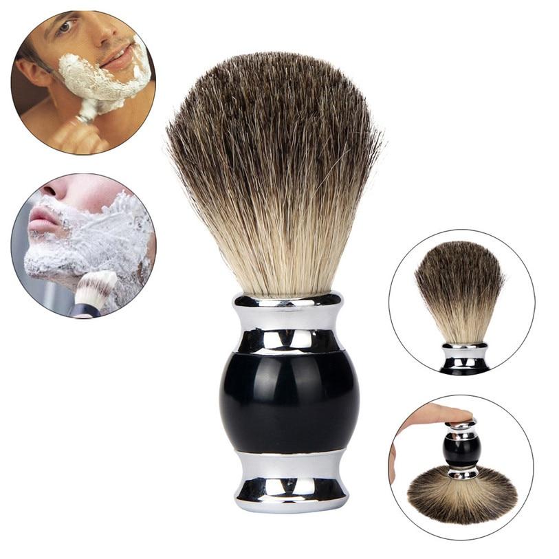 Good Quality Brand Pure Badger Hair Resin Handle Shaving Shave Brush Black Badger Hair Barber Salon Tool BK Man feb22 badger лодка badger boat utility line ul 360