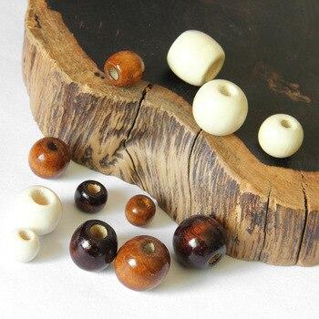 100 unids/lote madera caliente, de moda, cuentas de pulsera de collar de accesorios de joyería, pendientes de hacer 10 12 14 16 17 18mm