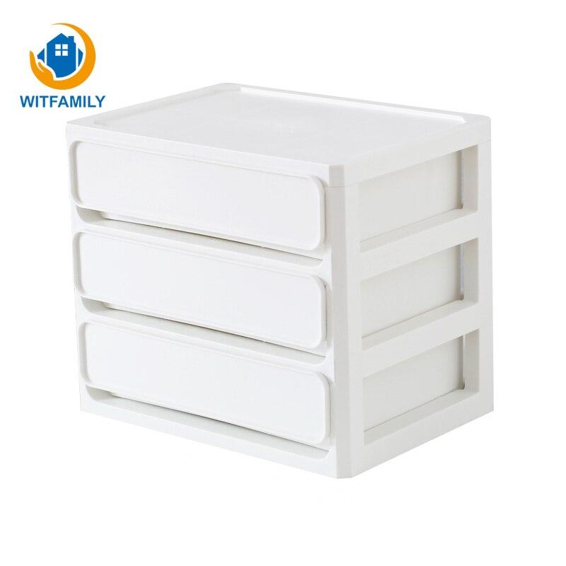 Boîte de rangement de bureau Simple tiroir Documents de bureau étudiant papeterie articles divers en plastique multi-couche stockage bijoux conteneur