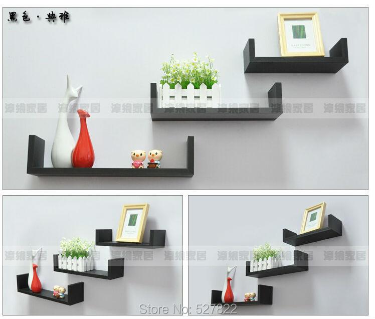 Elegant Floating Shelves U Walnut Brown Finish Set Of 3 Shelf Modern Home DescriptionChina