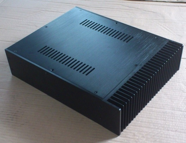QUEENWAY A09 CNC full Aluminum Amp/amplifier Box chassis /PSU Case 300mm* 90mm *388mm  300* 90 *388mm