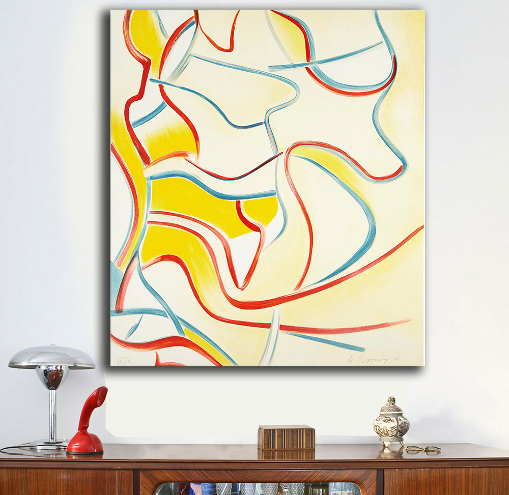 ᗚQuatre Lithographies willem-de-kooning Oil Painting Wall Art ...