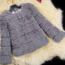 Nuovo reale del coniglio cappotto di pelliccia delle donne giacca di  pelliccia di coniglio pelle pieno 9bbdc146a97