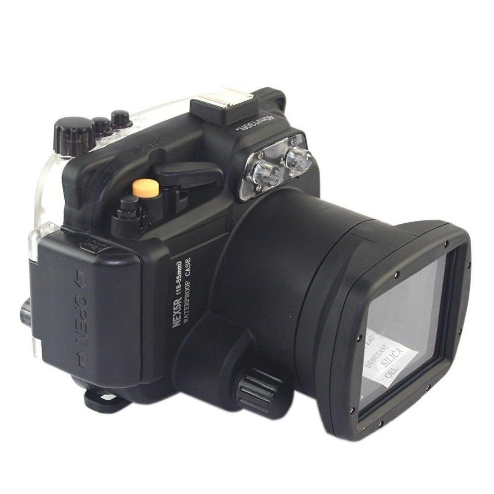 Mcoplus 40 м 130ft Водонепроницаемый подводный Камера Корпус сумка для sony NEX5R NEX-5R 18-55 мм объектив ...