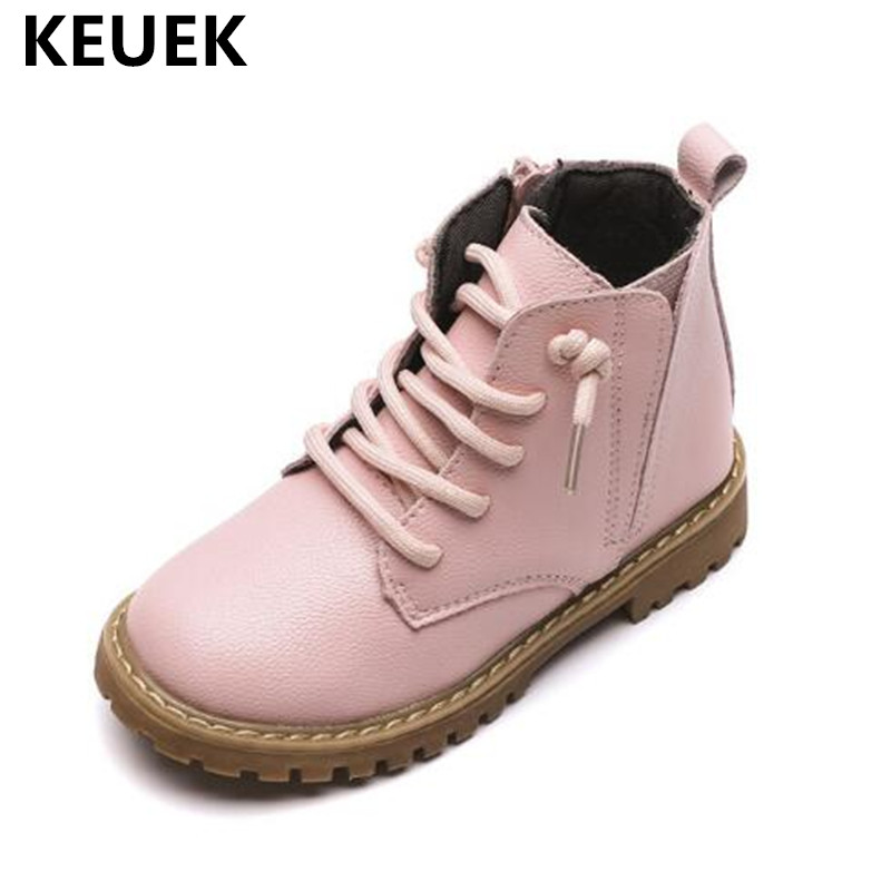 New Autumn Winter Ankle Boots Children Snow Boots Boys Girls Anti-Slippery Warm Genuine Leather Baby Children Shoes 03 2014 new autumn and winter children s shoes ankle boots leather single boots bow princess boys and girls shoes y 451