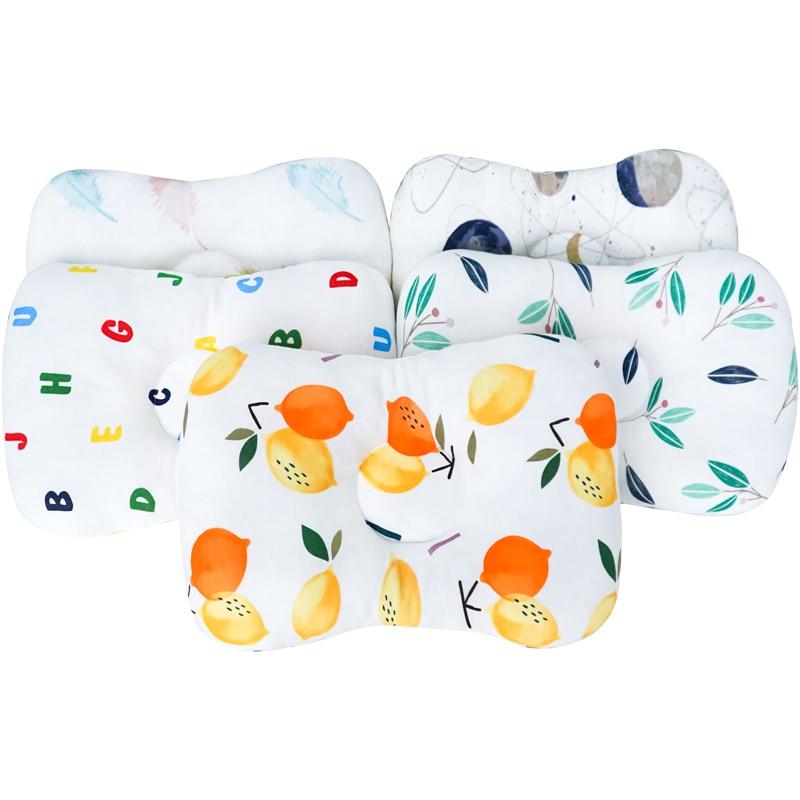 Muslinlife Baby Cushion Sleeping Pillow Infants Newborn Baby Shaping Pillow Soft Cotton Kids Pillow Anti Roll Dropship