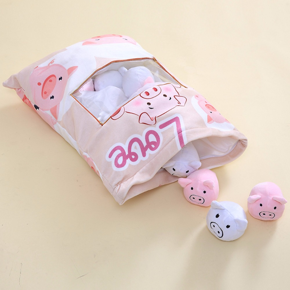 hot sale a bag of pig plush toys creative simulation snack plush throw pillow baby kids toys funny gift for children/girlfriend 30 50cm creative cute penis plush toys pillow sexy soft stuffed funny cushion simulation lovely dolls gift for girlfriend