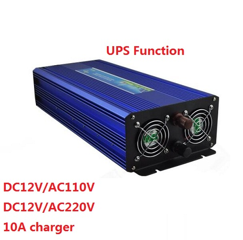 цена на Off Grid 1500W DC12V to AC220V Pure Sine Wave Power Inverter with UPS battery charging function