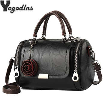Fashion Women Shoulder Bag with Flower Pendant Ladies Totes Party Purse Boston Handbag Casual Female Messenger Crossbody Bags - DISCOUNT ITEM  68% OFF All Category
