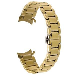 Image 3 - 18mm 20mm 22mm Stainless Steel Watchband for Casio BEM 302 307 501 506 517 EF MTP Series Curved End Strap Belt Wrist Bracelet