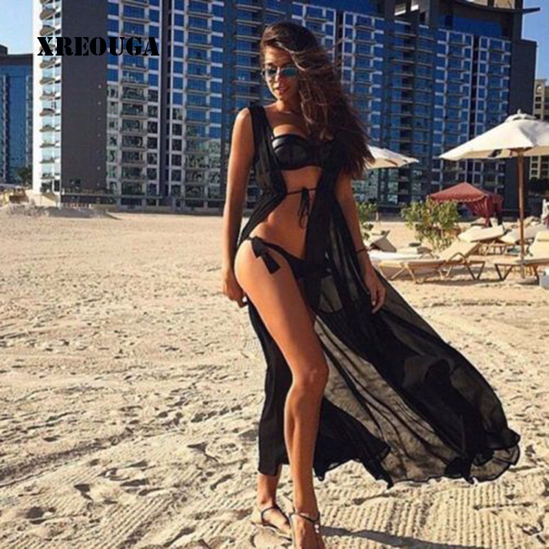 цена One Size Beach Outings Cover up Chiffon Robe Plage Candy Color Kaftan Dress Pareos For Women Beach Tunic Sarong Swimsuit BC051