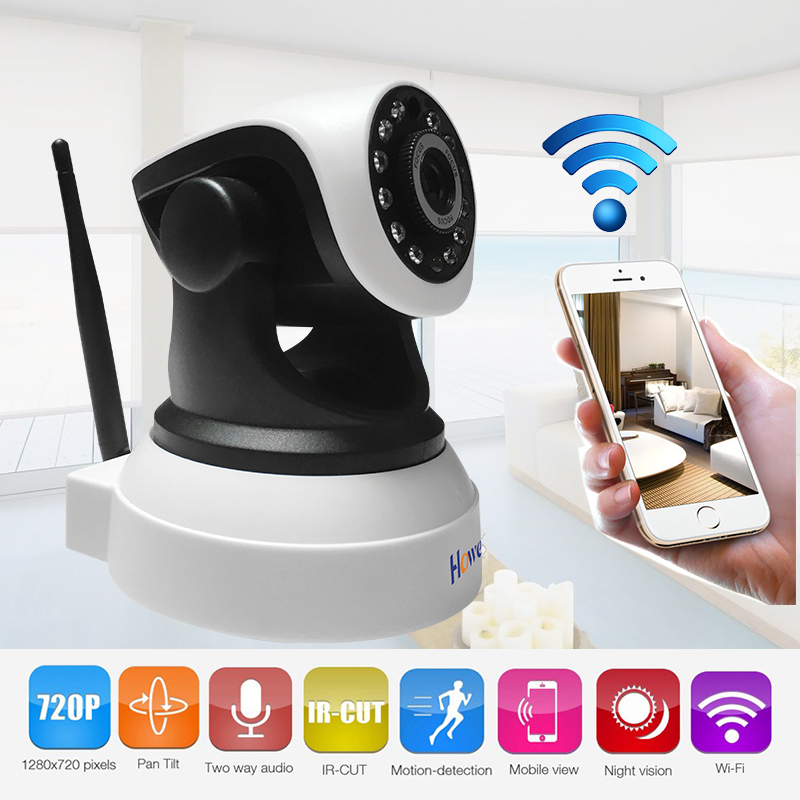 Howell Wireless HD 720P IP Camera Surveillance Camera Pan/Tilt Video Baby Monitor 2 Way Audio SD Card Slot Day/IR Night Vision