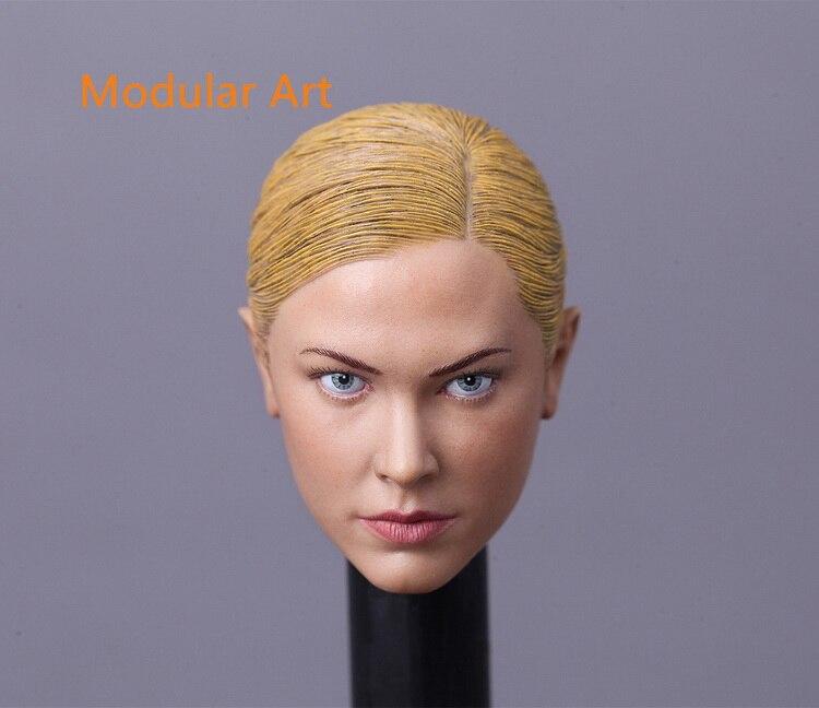 ФОТО  MA013 1/6 Scale Female Head Sculpt Terminator T-X Kristanna Loken Head Carving for 12 inches Body Figure