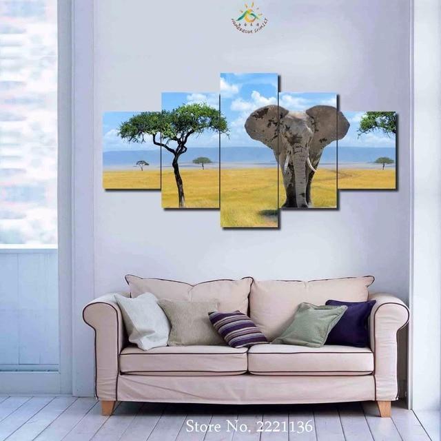 3 4 5 Platten Set Afrikanische Elefanten Hd Gedruckt Malen Home