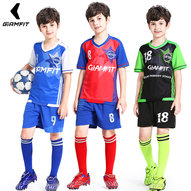 6802cdb12 Soccer Jersey 2019 Survetement Enfant Football Jersey Kids Team Training  Uniform Breathable Sports Clothing Custom Jersey