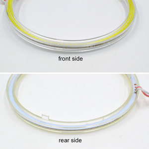 Image 5 - 2pcs 12V Round COB LED Light Bulb 60mm 70mm 80mm 90mm 100mm 120mm Diameter Circle LED Lamp Angel Eye for Car Decor DRL Lights