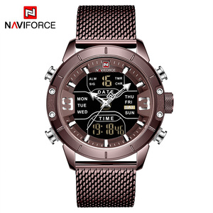 Image 5 - NAVIFORCE Analoge Digitale Horloges Mannen Luxe Merk Rvs Sport heren Horloges Digitale Waterdicht Man Horloge 2019 Sport