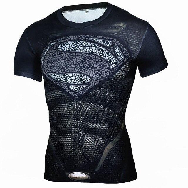 superman imprimé hommes de t shirts 3d t shirt pour hommes rashguard