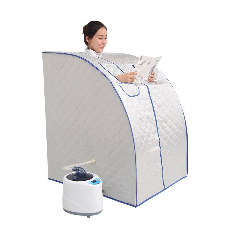 Портативный Паровая сауна с парогенератором ёмкость 2L потеря веса домашняя Паровая Сауна для ванной spa расслабляет уставший