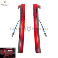 Red Motorcycle Tour Pak Pack Accent Side Panel With LED Light case for Harley Davidson Touring Trunk 2014 2015 2016 2017