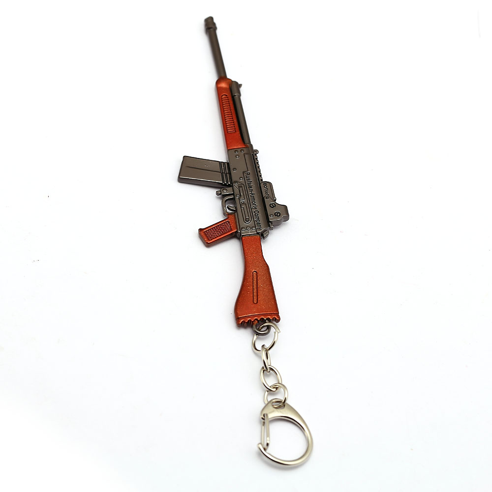 Game Jewelry Key Chains Jedi Survival Weapon Model Gun Red Black Colors Battleground Keyring Holder Metal