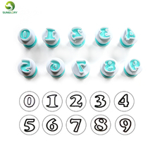 10PCS/SET Numbers Cookie Cutter Plastic Sugarcraft Mould DIY Baking Fondant Biscuit Mold Cupcake Pastry Cake Decorating Tools