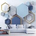 Personalizado murais papel de parede moderno 3d estéreo arte abstrata geométrica foto pintura da sala estar quarto fundo da cobertura