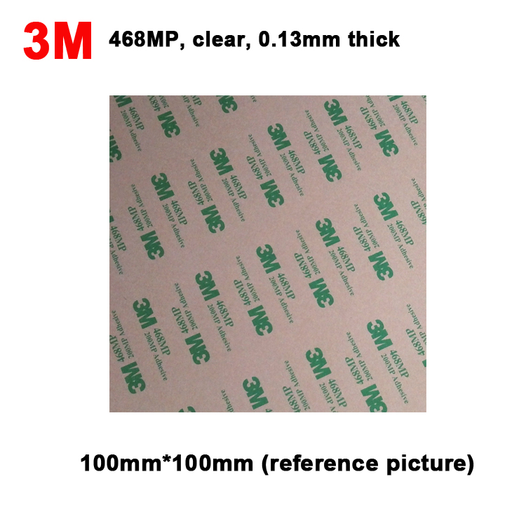 4 Sheets 100mm*100mm 3M 468MP  Clear Adhesive Double Sticky Sticker For Phone Repair, Panel Nameplate Bond, Key Button