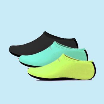1 Pair Men and women barefoot sandbeach swimming diving shoes Water Skin Shoes Stretchy Aqua Socks For Beach Pool Dive Yoga women men s flexible water shoes slip on pool beach swim surf yoga skin shoes