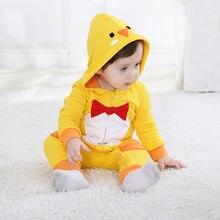 Желтый цыпленок унисекс-ребенок весна и осень малыш тонкий комбинезон Рождественский Комбинезон Onesie наряды костюм детская одежда