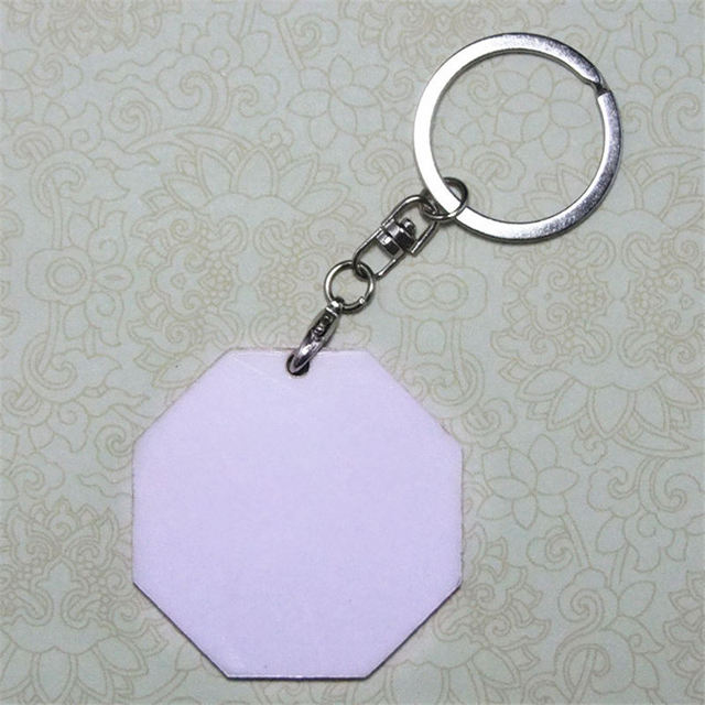 Sublimation Blank Mdf Keychains For Women Men Fashion Keychains For