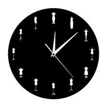 1 pezzo di Moda Negozio di Cucito Camera Su Misura Bambole Iconic Orologio  Da Parete Design Moderno Dummy Manichino Mannequin Or.. 1235bb2e6a5