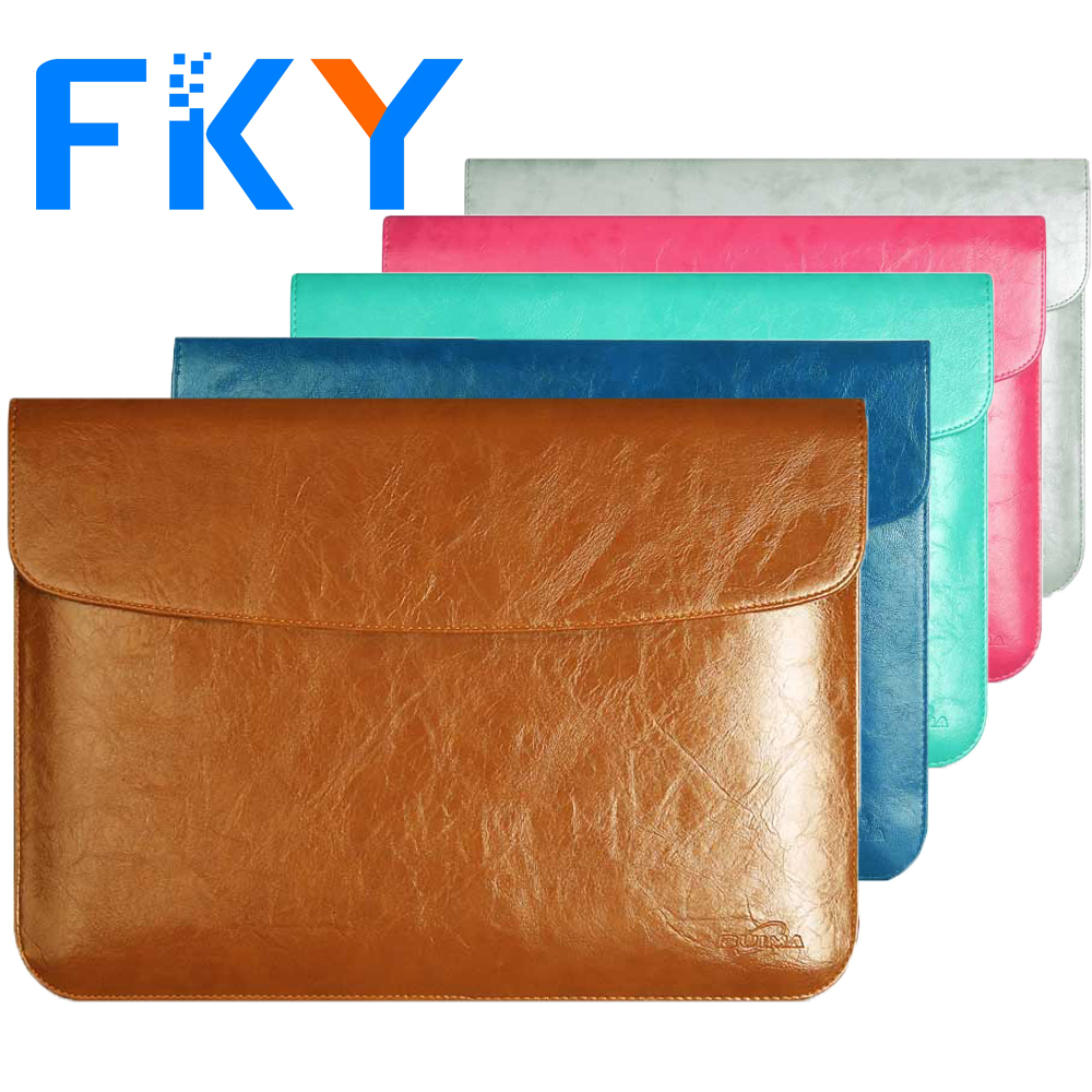 Leather Cover Laptop Sleeve Bag Case for Macbook Air 11 Pro Retina 13 Laptop for 11.6 12 13.3 15.4 inch 11 13 15 Notebook