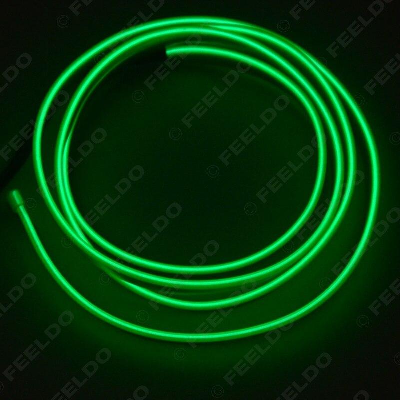 FEELDO 1PC 2M Ευέλικτη Χύτευση EL Neon - Φώτα αυτοκινήτων - Φωτογραφία 4