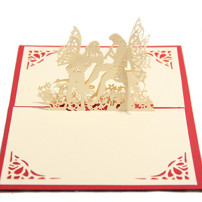 10 pieces/lot)Creative DIY Handmade 3D Angel Greeting Cards ...