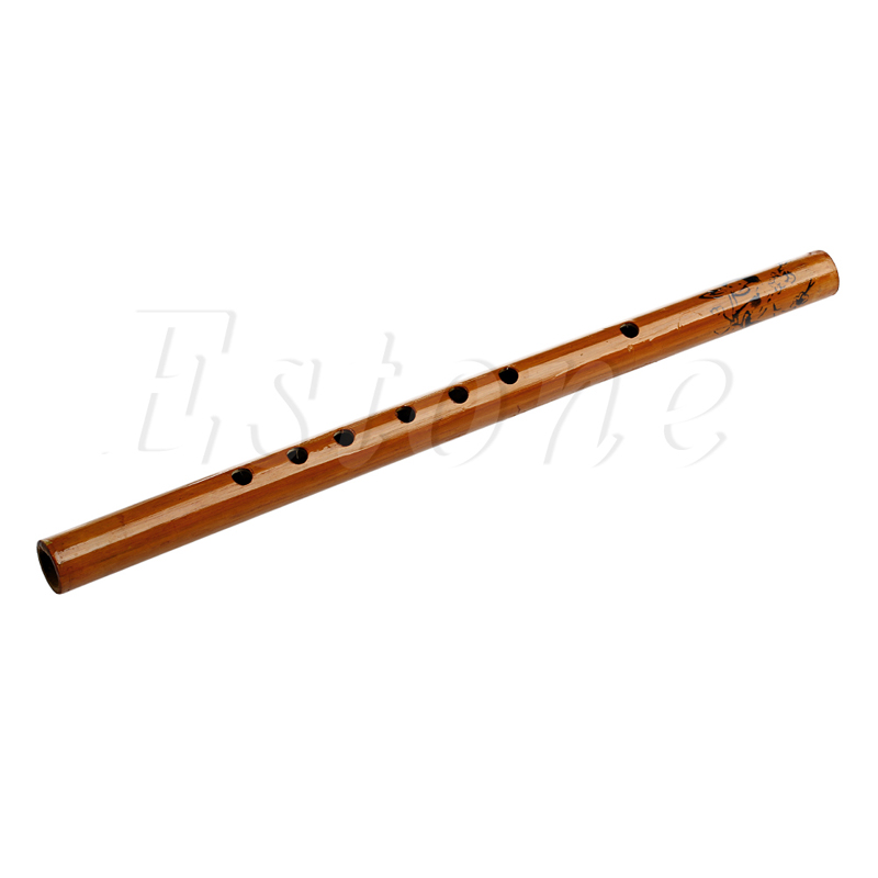 Chinese Traditional 6 Hole Bamboo Flute Clarinet Student Musical Instrument Wood Color  free shipping indian musical instruments