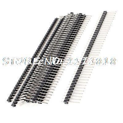 10 x Dual Row 1x40 Pin PCB Pin Headers Connector 2mm Pitch
