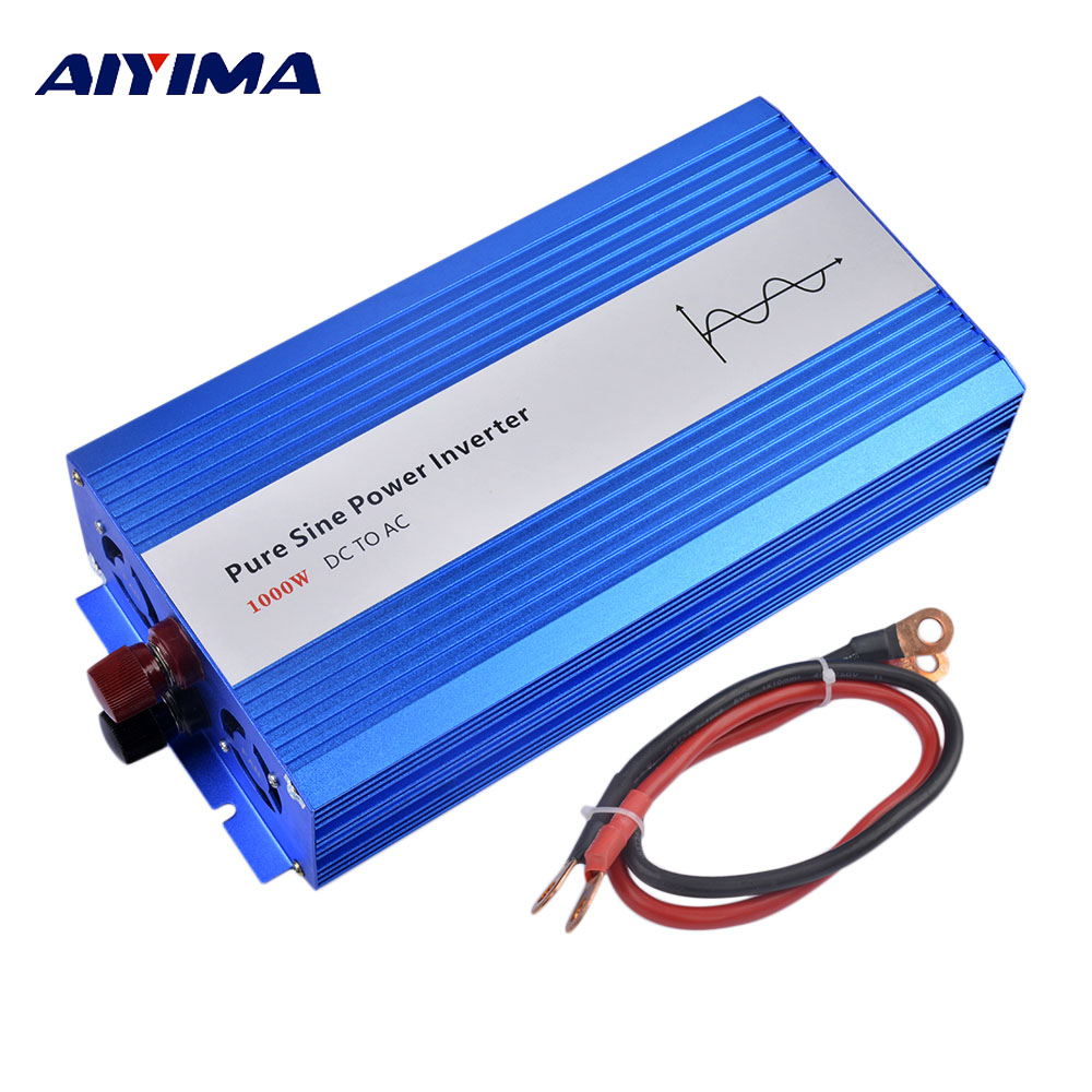 цена на Aiyima 1000W Pure Sine Wave Solar Power Inverter DC 12V/24V/48V To AC 220V 50HZ OFF Grid Inverter For Solar System Car Invertor